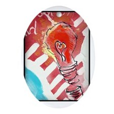 Love Light Oval Ornament