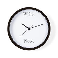 Write. Now. Clock
