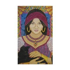 Gypsy with Cat narrow Decal