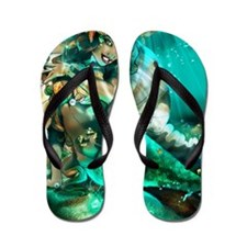 my mermaid2 Flip Flops
