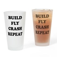 BuildFlyCrash10x10 Drinking Glass