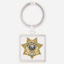 Rangers Badge Square Keychain