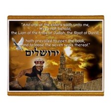 The Lion of Zion Throw Blanket