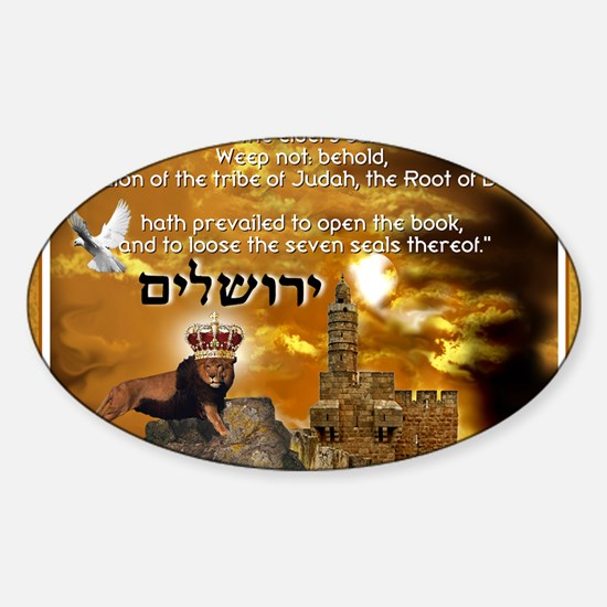 The Lion of Zion Sticker (Oval)