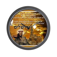 The Lion of Zion Wall Clock