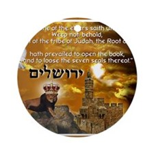 The Lion of Zion Round Ornament