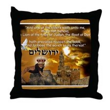 The Lion of Zion Throw Pillow