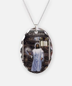 Yahshuah El Shaddai El Shaddai Necklace Oval Charm
