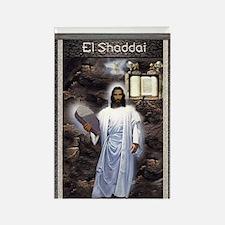 Yahshuah El Shaddai El Shaddai Rectangle Magnet