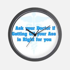 Ask Your Doctor Wall Clock