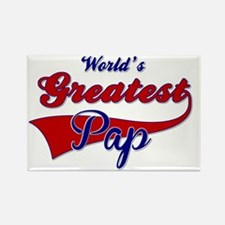 Worlds Greatest Pap Rectangle Magnet