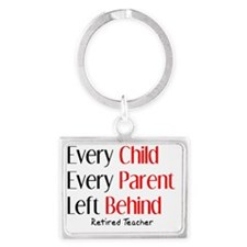 every child parent RETIRED TEAC Landscape Keychain