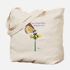 Monarch butterfly resting Tote Bag