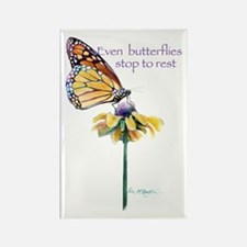 Monarch butterfly resting Rectangle Magnet