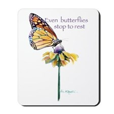 Monarch butterfly resting Mousepad