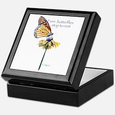 Monarch butterfly resting Keepsake Box