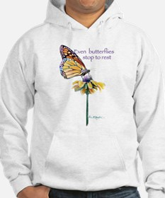 Monarch butterfly resting Hoodie