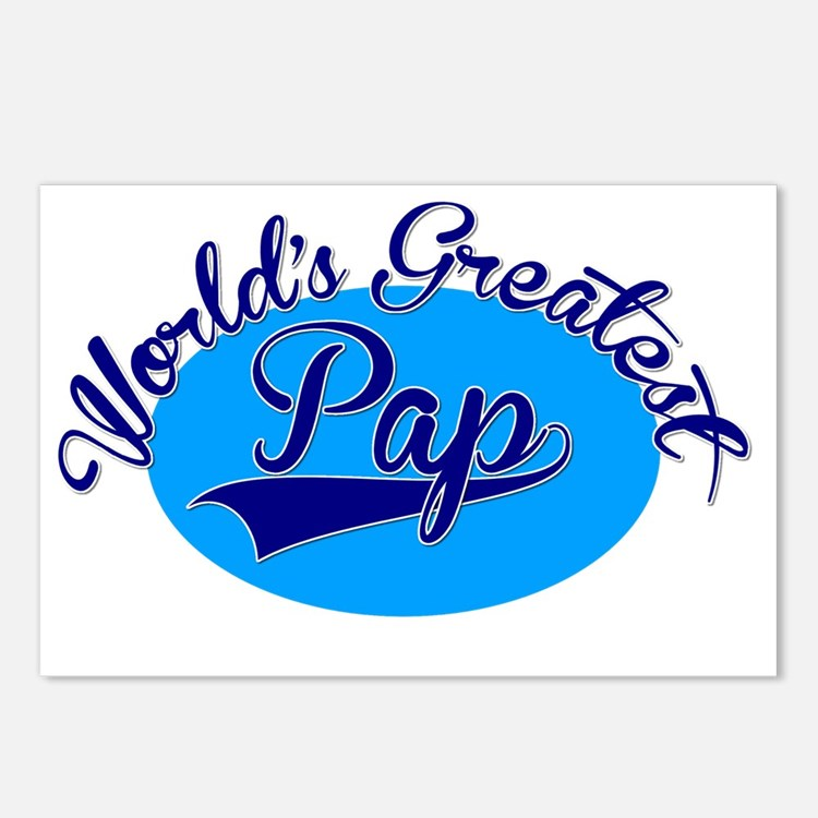 Worlds Greatest Pap Postcards (Package of 8)