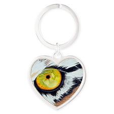 Tiger Eye Rectangle Heart Keychain