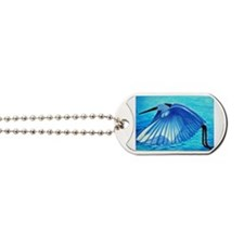 Snowy Egret Rectangle Magnet Dog Tags