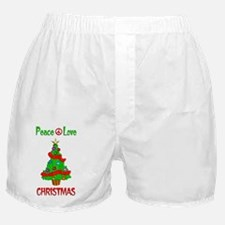 Peace Love Christmas Boxer Shorts