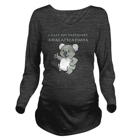 koala Long Sleeve Maternity T-Shirt