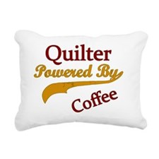 Quilter Powered By Coffe Rectangular Canvas Pillow