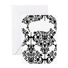 Damask Kettlebell Greeting Card
