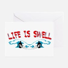 Surfing- Life is Swell Greeting Cards (Package of