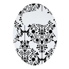 Damask Kettlebell Oval Ornament