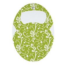 Organic Green Vine Kettlebell Oval Ornament