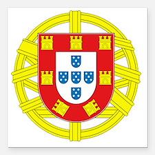 "portugal 2 Square Car Magnet 3"" x 3"""