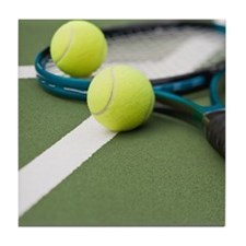 Tennis equipment Tile Coaster