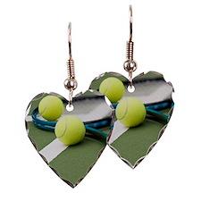 Tennis equipment Earring Heart Charm