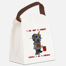 I am not a robot. Clearly, I am a Canvas Lunch Bag