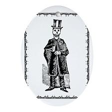 Skeleton Groom, Border Oval Ornament