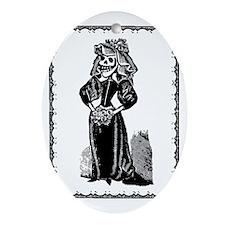 Skeleton Bride, Border Oval Ornament