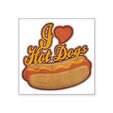 "ILoveHotdogs Square Sticker 3"" x 3"""