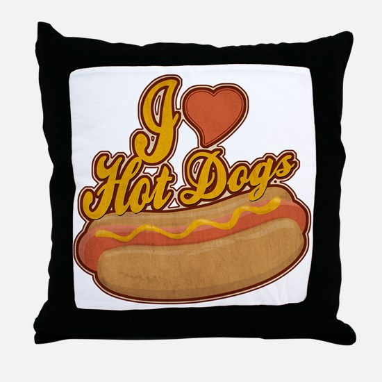 ILoveHotdogs Throw Pillow