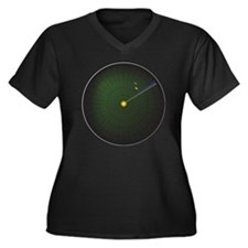 Radar Sweep  Women's Plus Size Dark V-Neck T-Shirt