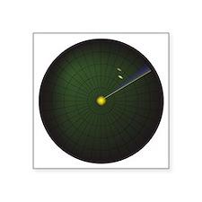 "Radar Sweep 2 Square Sticker 3"" x 3"""