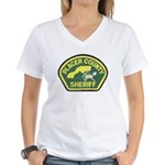 Placer County Sheriff Women's V-Neck T-Shirt