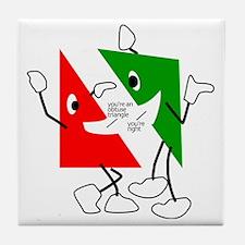 Triangular discussion Tile Coaster