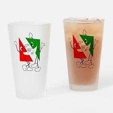 Triangular discussion Drinking Glass