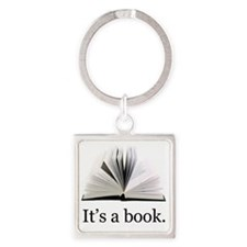 Its a book Square Keychain