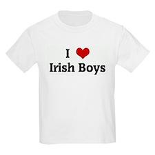 I Love Irish Boys Kids T-Shirt