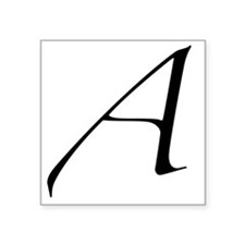"Atheist A symbol Square Sticker 3"" x 3"""