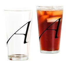 Atheist A symbol Drinking Glass
