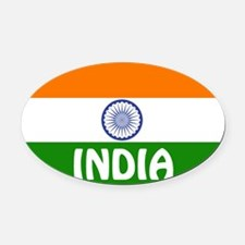 India Oval Car Magnet