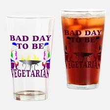Funny BBQ vegetarian Drinking Glass